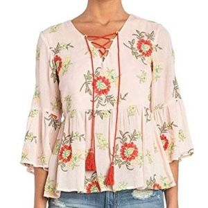 ✨Host Pick✨Miss Me • Island Fever Peasant Top